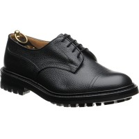trickers matlock in black calf grain