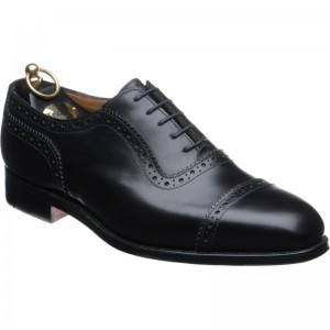 trickers belgrave in black calf
