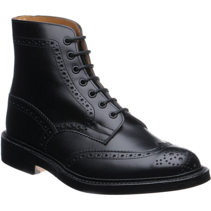 Stow Black Calf Leather Boots Trickers hpDSYmIGB