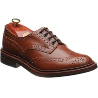trickers bourton rubber in marron calf
