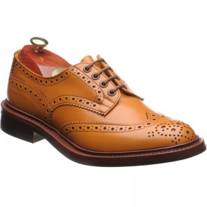 trickers bourton rubber in acorn antique calf