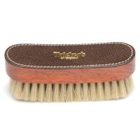 trickers shoe brush small in white bristle