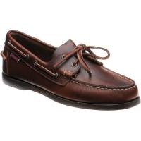sebago dockside portland in brown waxy