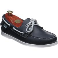 sebago dockside portland in blue night
