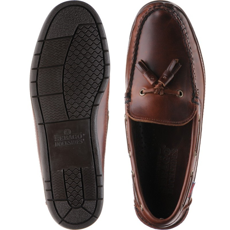 9e0e07a992055 Sebago shoes | Sebago | Ketch rubber-soled deck shoes in Brown Oiled at  Herring Shoes