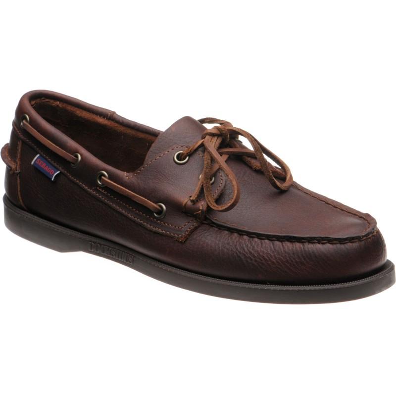 Dockside Portland Tumb Matte rubber-soled deck shoes