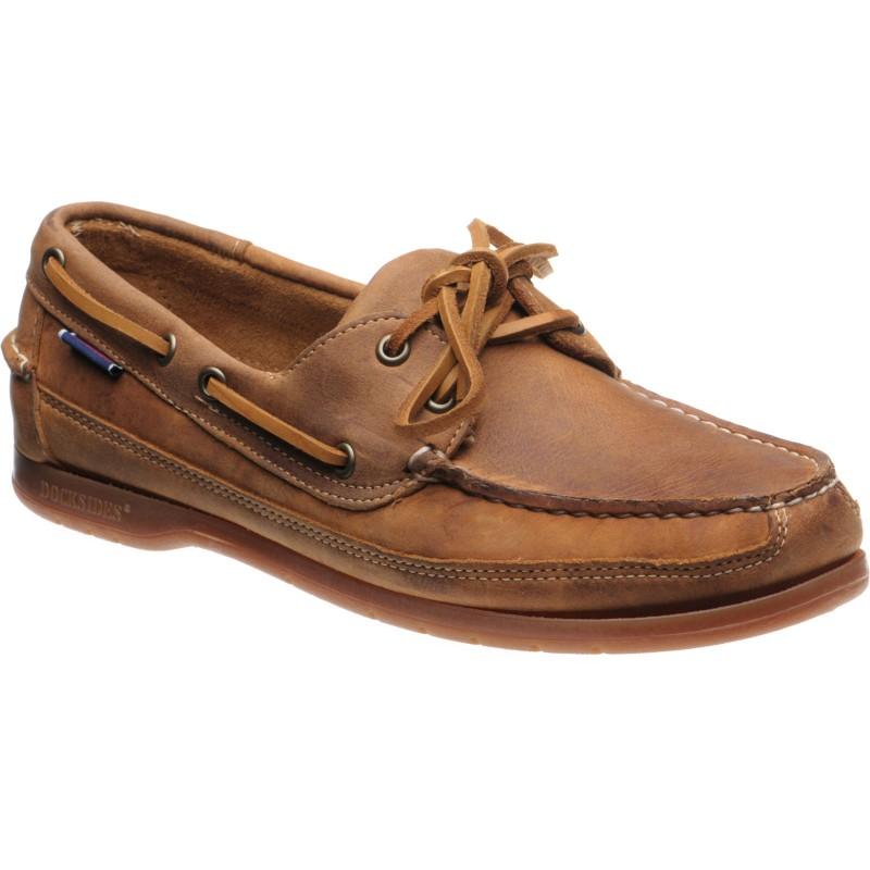 Schooner Crazy Horse rubber-soled deck shoes