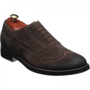 Geox Blade Brogue lace in Brown Suede