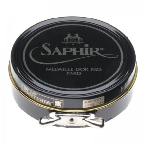 saphir pate de luxe high gloss polish 50ml in dark brown