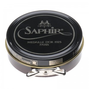 saphir pate de luxe high gloss polish 50ml in medium brown
