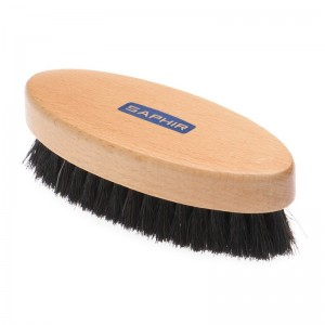 saphir saphir oval brush in dark bristle