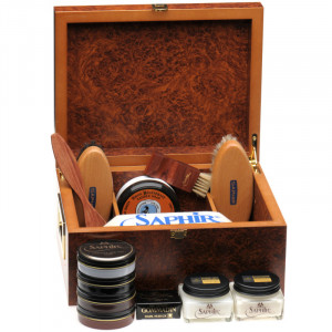 Saphir Herring Valet Box in Red Walnut
