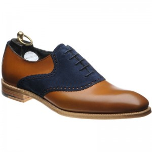 Harrison in Chestnut Calf and Navy Suede