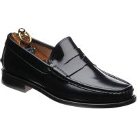 Herring Lucca rubber-soled loafers in Black Polished