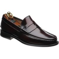 Herring Lucca rubber-soled loafers in Burgundy Polished