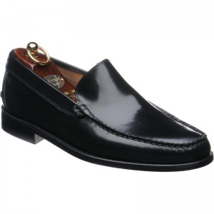 Herring Pisa rubber-soled loafers in Black Polished