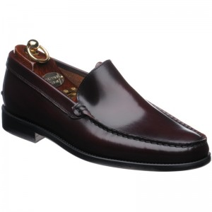 Herring Pisa rubber-soled loafers in Burgundy Polished