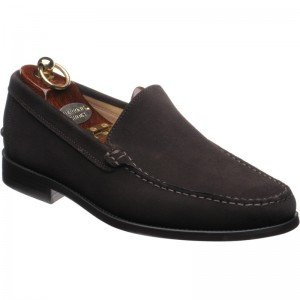 Herring Pisa rubber-soled loafers in Brown Suede