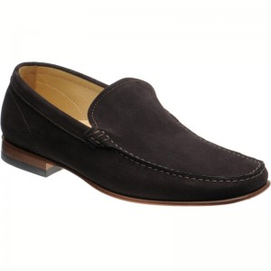 Herring Verona rubber-soled loafers in Brown Suede