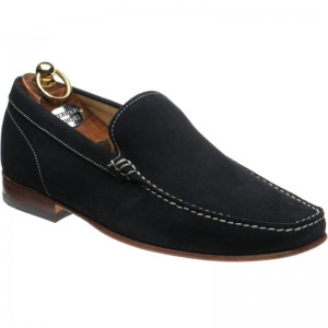 Herring Verona rubber-soled loafers in Navy Suede