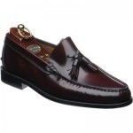 Herring Sienna rubber-soled tasselled loafers in Burgundy Polished