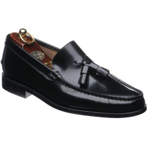 Herring Sienna rubber-soled tasselled loafers in Black Polished