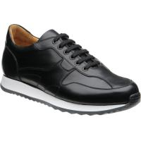 herring goodwood in black calf and  white sole