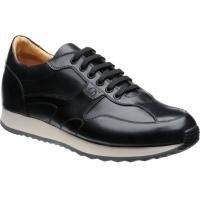 herring goodwood in black calf and  cream sole