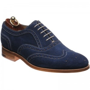 Herring Carnaby in Navy Suede and Cola