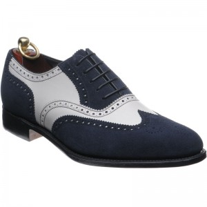Herring Shrewsbury in Navy suede and White Calf