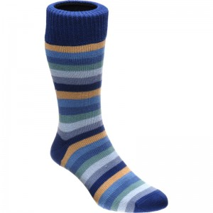 herring cuthbert sock in sky multi