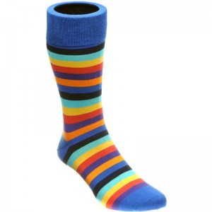 herring erbert sock in blue multi
