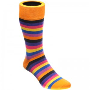 herring erbert sock in orange multi