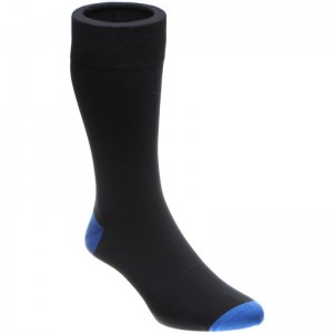 Herring Janitor Sock in Black and Blue