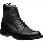 Herring Exmoor tweed rubber-soled brogue boots