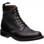 Exmoor tweed rubber-soled brogue boots