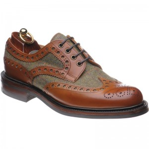Herring Dartmoor tweed rubber-soled brogues