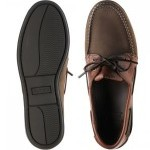 Padstow rubber-soled deck shoes