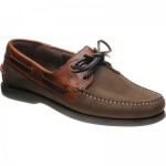 Herring Padstow rubber-soled deck shoes