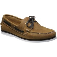 Herring Fowey rubber-soled deck shoes in Tan
