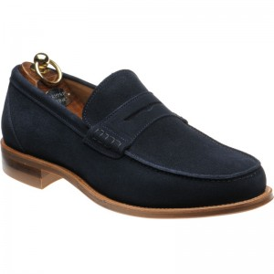 Exeter (Rubber) in Navy Suede