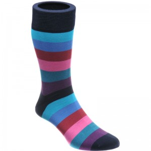 herring fred sock in black multi