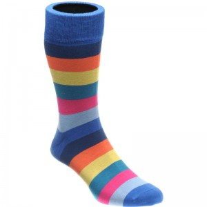 herring fred sock in blue multi