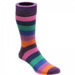 herring fred sock in purple multi