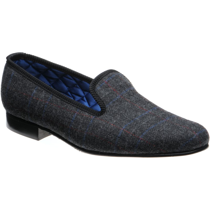 Sandringham tweed slippers
