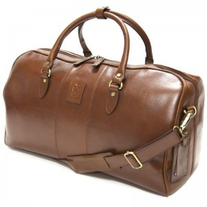 herring bovey holdall in chestnut calf