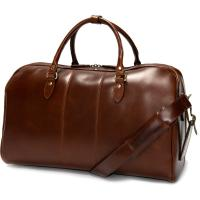 herring bovey holdall in brandy calf