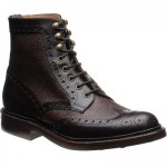 Herring Coniston two-tone rubber-soled brogue boots