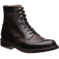 Coniston two-tone rubber-soled brogue boots