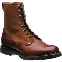 herring peebles warm lined in mahogany grain and fox suede
